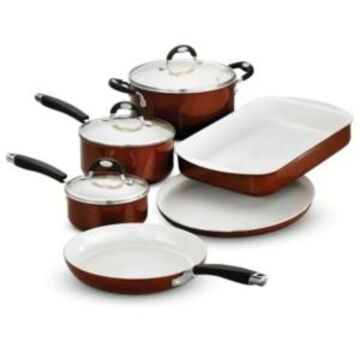Tramontina Style Ceramica Metallic Copper 9 Pc Cookware/Bakeware Set