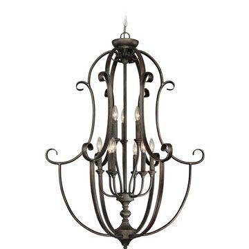 "Craftmade Barrett Place 9-Light 32"" Foyer Light in Mocha Bronze"