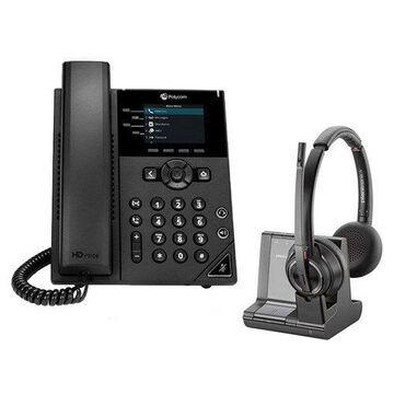 Polycom VVX 250 SIP Voice Over IP Phone with Savi W8220 Wireless Headset