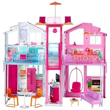 3 Story Barbie Pink Passport Townhouse House New Doll Furniture Deluxe Gift Girl