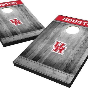 Wild Sports Houston Cougars NCAA Grey Wood Tailgate Toss