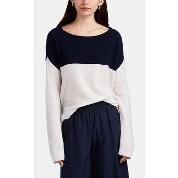 ATM Anthony Thomas Melillo Colorblocked Cashmere Sweater