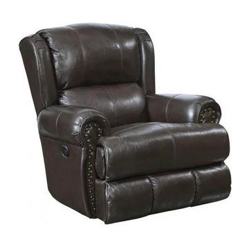 Power Deluxe Lay Flat Recliner in Chocolate Finish
