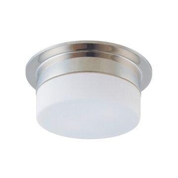 Sonneman Lighting Flange 9 inch 1-Light Surface Mount (Polished nickel, White)