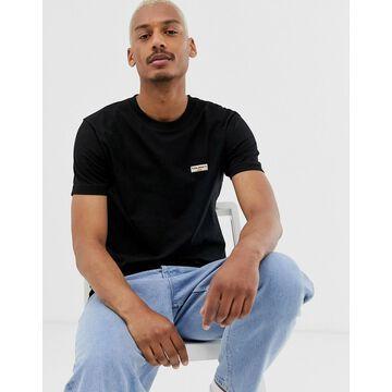 Nudie Jeans Co Daniel logo t-shirt in black