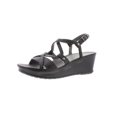 Baretraps Womens Lotti Wedge Sandals Leather Strappy