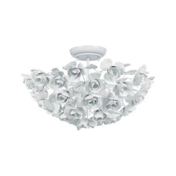 Crystorama Cypress 3-Light White Semi-Flush