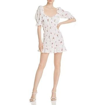 For Love & Lemons Tarte Eyelet Smocked Dress