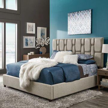 Rosenfeld Grey Fabric Bed by iNSPIRE Q Modern