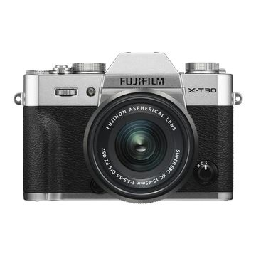 Fujifilm X-T30 Mirrorless Camera (Silver) with 15-45mm Lens