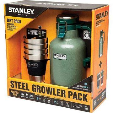 Stanley Classic 2 QT Vacuum Growler + Adventure Stacking Steel Tumblers