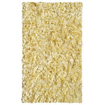 The Rug Market Shaggy Raggy 5 x 8 Shag Yellow Solid Area Rug in Gold   02205D