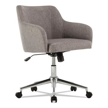 Alera Captain Series Mid-Back Chair Gray Tweed CS4251