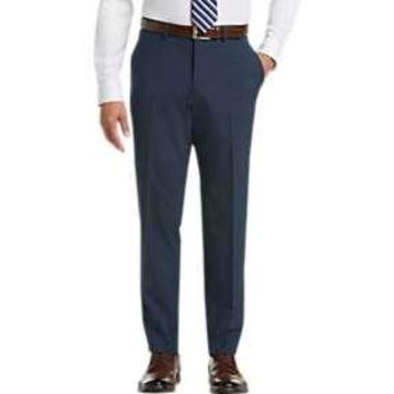 Pronto Uomo Blue Modern Fit Dress Slacks