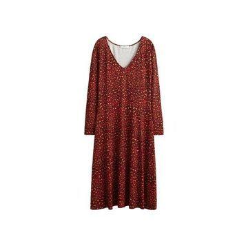 Violeta BY MANGO - Leopard print dress red - 14 - Plus sizes