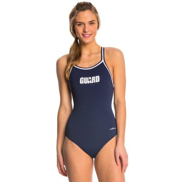 Dolfin Lifeguard Polyester Female DBX Back One Piece Swimsuit