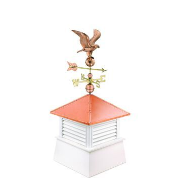 30-inch Square Manchester Vinyl Cupola with Standard American Eagle by Good Directions - 2130k-1776p