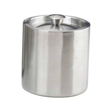 Kraftware 71489 Doublewall Insulated Ice Bucket, Brushed Stainless Steel