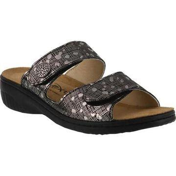 Flexus by Spring Step Women's Cippi Slide Sandal Pewter Leather