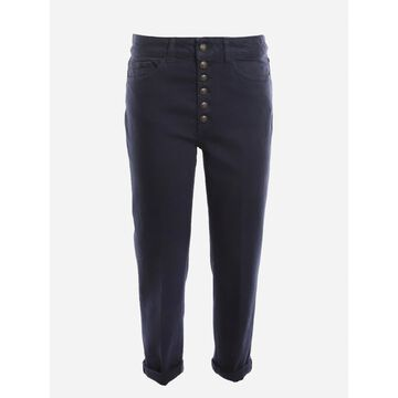 Dondup Loose Fit Cropped Jeans In Stretch Cotton