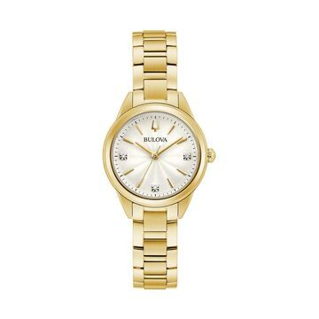 Bulova Women's Diamond Accent Gold-Tone Watch - 97P150