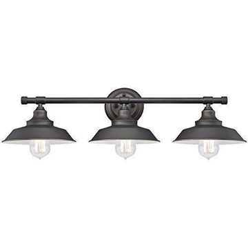 ''Westinghouse 6343400 Iron Hill Three-Light Indoor Wall Fixture, Oil Rubbed...''