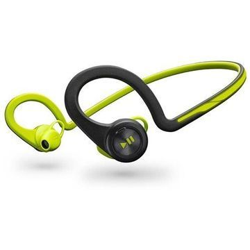 Plantronics Backbeat Fit Wireless Headphones + Mic - Stereo - Green - Wireless - Bluetooth - 33 ft - Earbud, Over-the-ear - In-ear