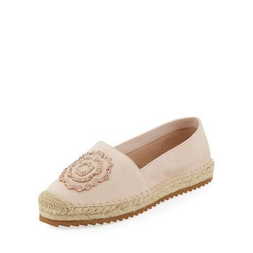 Abby Embellished Suede Espadrilles