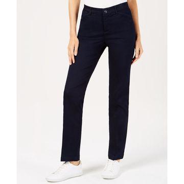 Petite Soft Stretch Straight-Leg Pants