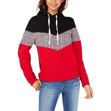 Ultra Flirt Womens Juniors Color Knit Hoodie