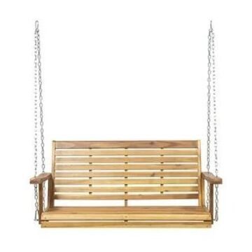 Tasmania Outdoor Aacia Wood Porch Swing by Christopher Knight Home (Teak Finish)