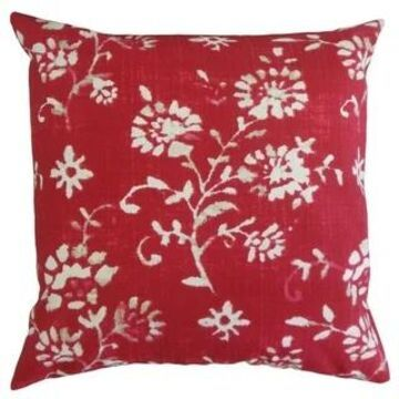 The Pillow Collection Lalani Floral Decorative Throw Pillow