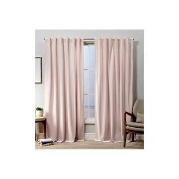 "Exclusive Home Curtains Velvet Heavyweight Hidden Tab Top Curtain Panel Pair, 52"" x 84"""