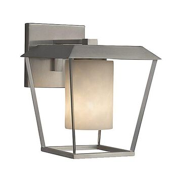 Justice Design Group Clouds Patina Outdoor Wall Sconce - Color: Brushed Nickel - Size: Large - CLD-7554W-10-NCKL