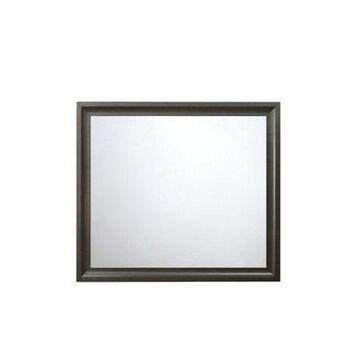 ACME Soteris Rectangular Beveled Mirror in Antique Gray