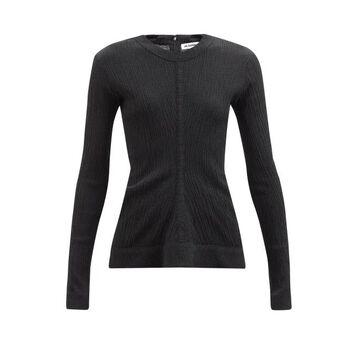 Jil Sander - Gathered Crinkle-jersey Top - Womens - Black