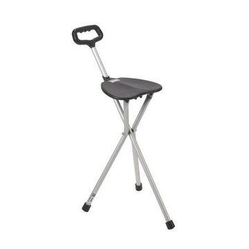 Drive Medical Folding Lightweight Cane Seat, Silver