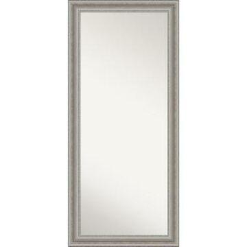 "Amanti Art Parlor Silver-tone Framed Floor/Leaner Full Length Mirror, 29.5"" x 65.50"""