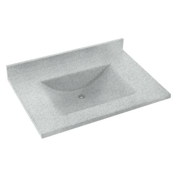 Swanstone 31W x 22D in. Contour Solid Surface Vanity Top