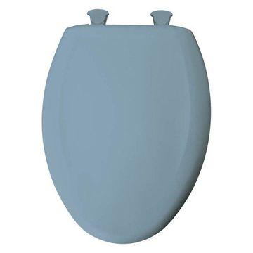 Bemis 1200SLOWT 034 Plastic Elongated Slow-Close Toilet Seat, Sky Blue