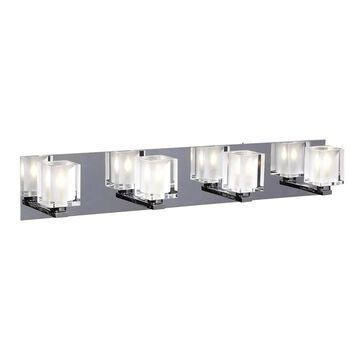PLC Lighting 4-Light Chrome Modern/Contemporary Vanity Light Bar   3484 PC