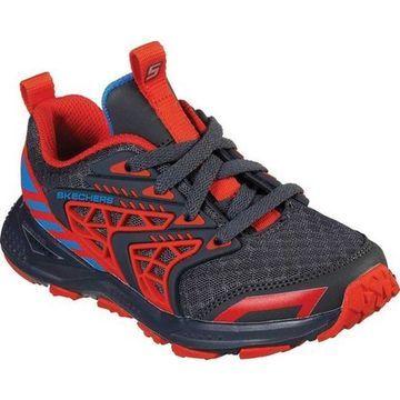 Skechers Boys' Turbo Spike Astrozone Sneaker Charcoal/Red