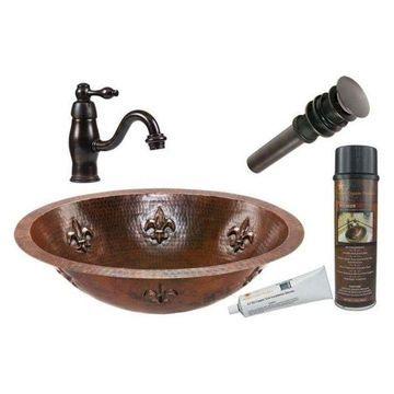 Premier Copper Products BSP3_LO19FFLDB Combination Lavatory Sink Fixture