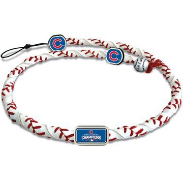 Chicago Cubs 2016 World Series Champions Frozen Rope Necklace - White
