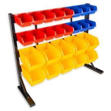 Stalwart 26-Compartment Storage Rack Organizer in Multicolor