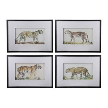 A&B Home Lion Framed Wall Art (Set of 4)