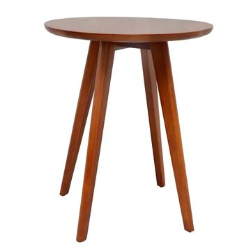 Porthos Home Side Table With Solid Pine Round Top And Four Wooden Legs
