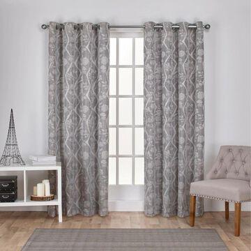 ATI Home Lamont Jacquard Grommet Top Curtain Panel Pair