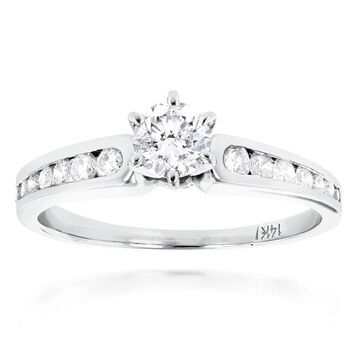Luxurman 14k Gold 4/5ct TDW Diamond Ring