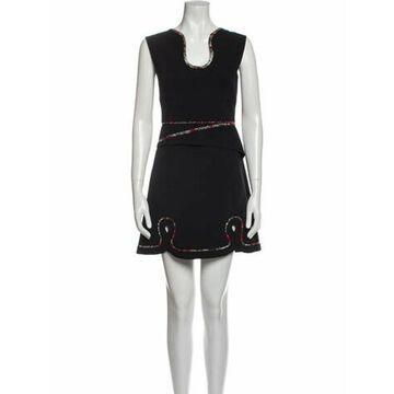 V-Neck Mini Dress w/ Tags Black